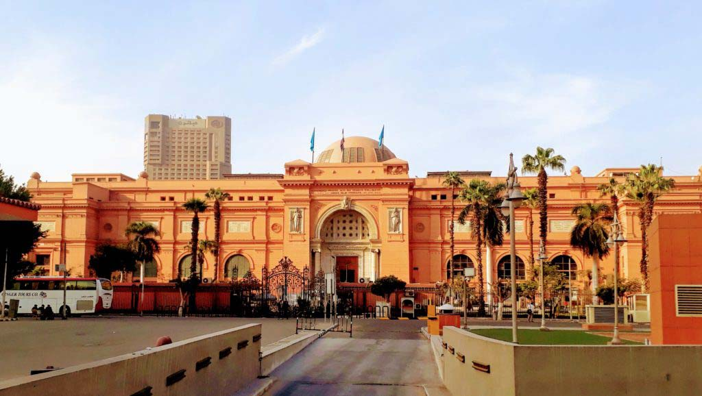The Egyptian Museum in Cairo, the world's largest museum of ancient Egyptian art