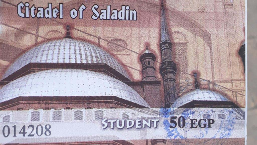 Ticket to the Citadel of Saladin