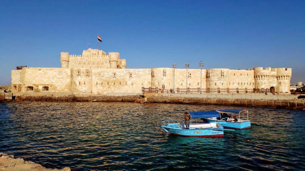 Citadel of Qaitbay on the Mediterranean coast of Alexandria