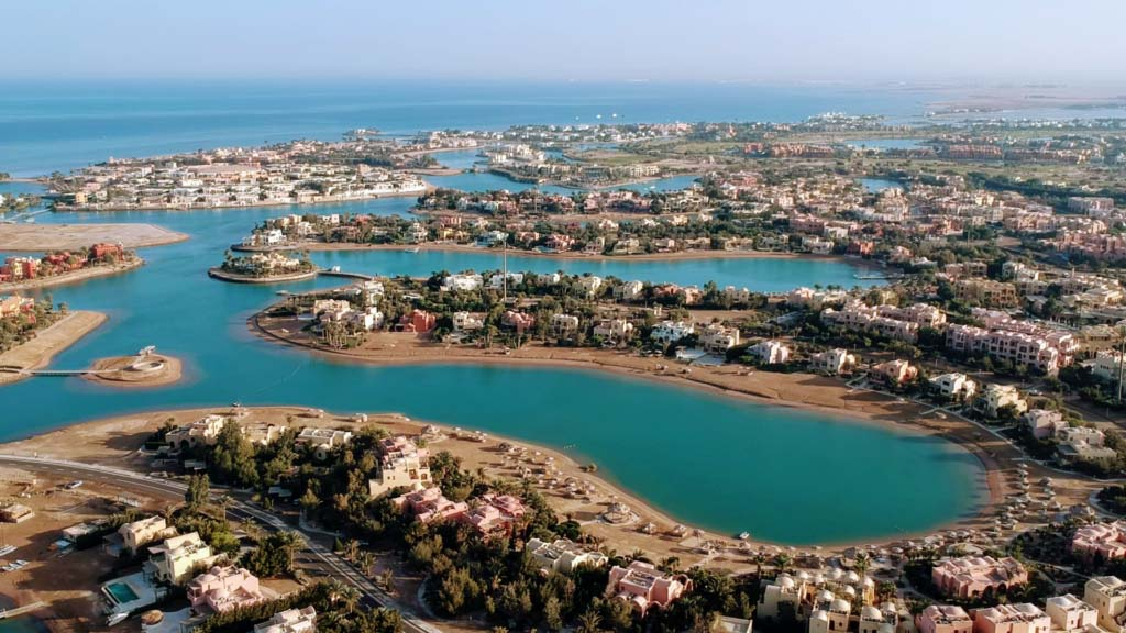 City of lagoons El Gouna from above