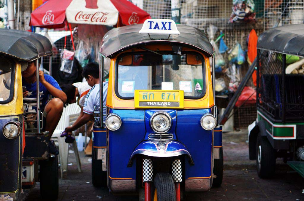 The small tuk-tuks are popular in many countries as a cheaper and more agile alternative to traditional taxis
