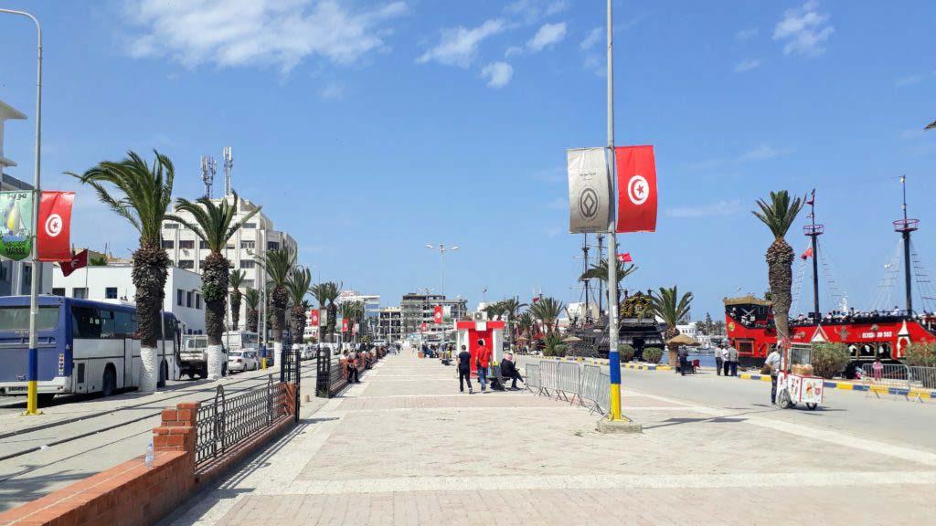 Harbor promenade in Sousse