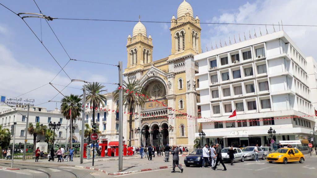 Cathedral of Saint Vincent de Paul at Avenue Habib Bourguiba