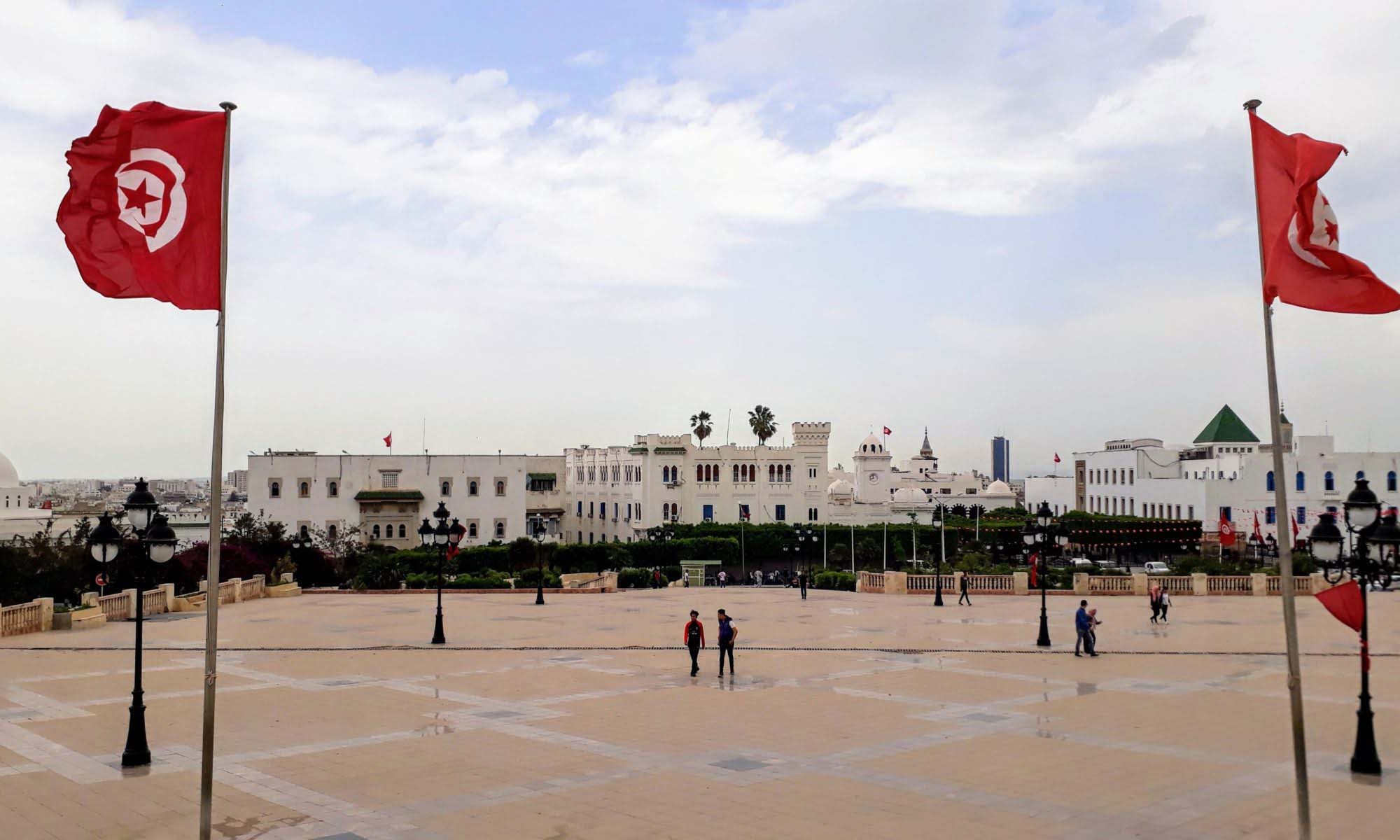 Tunis: View from the Place du Gouvernement to the medina