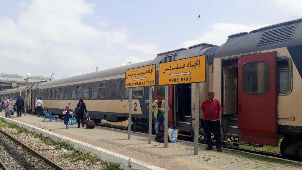 Railway station of El Djem