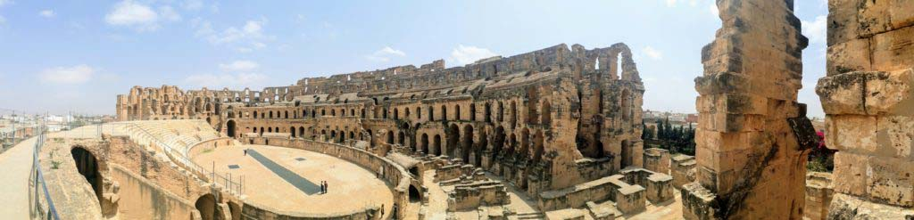 Panorama of the Amphitheater of El Jem