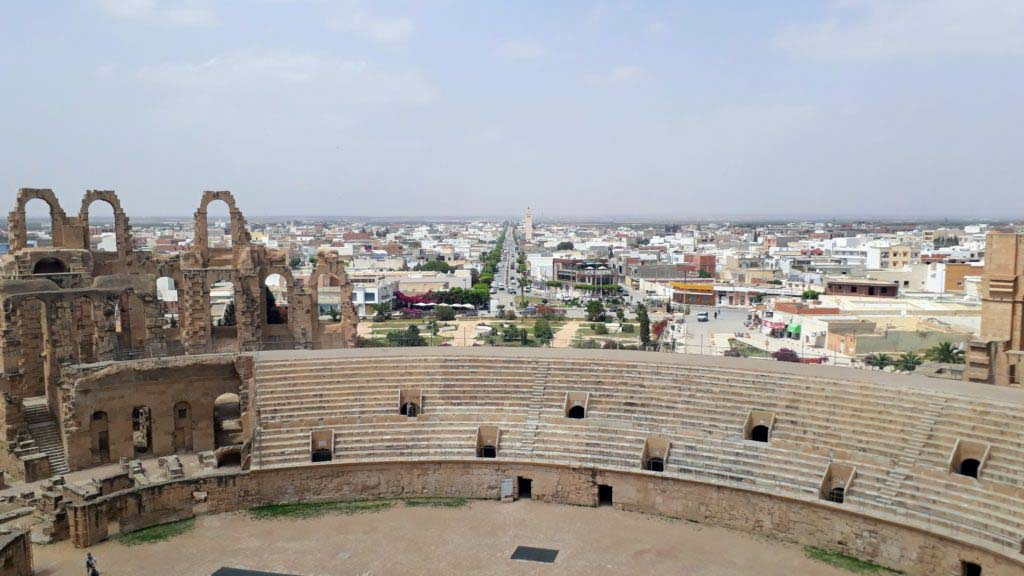 View from the amphitheater over El Djem