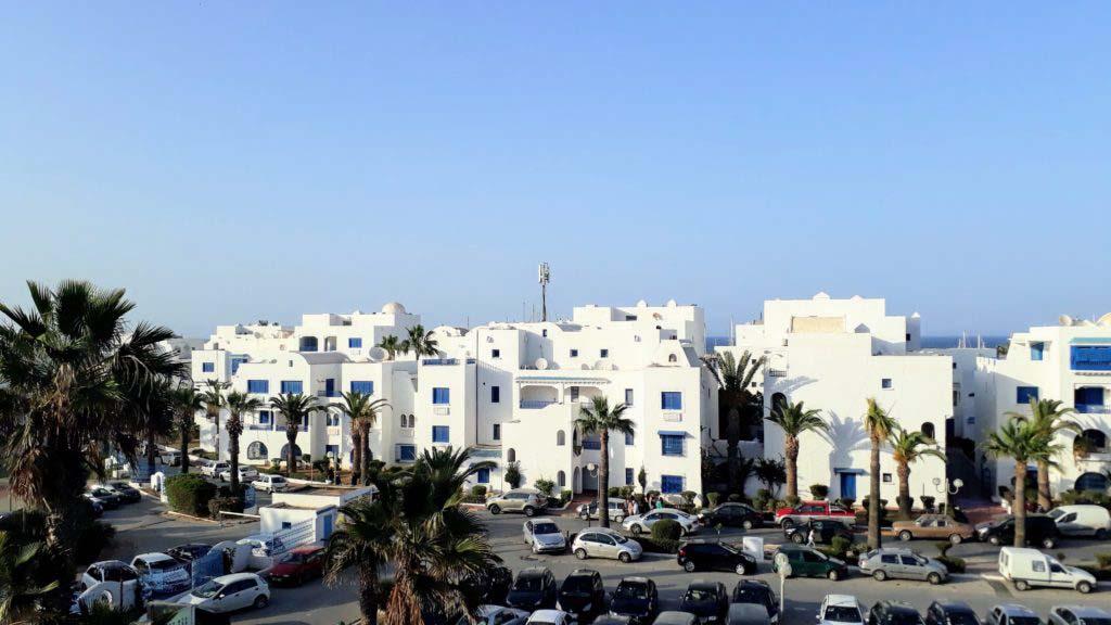 Houses in Monastir Marina, the modern port area of Monastir