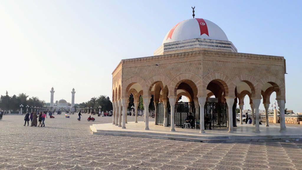 View of the Habib Bourguiba mausoleum in Monastir