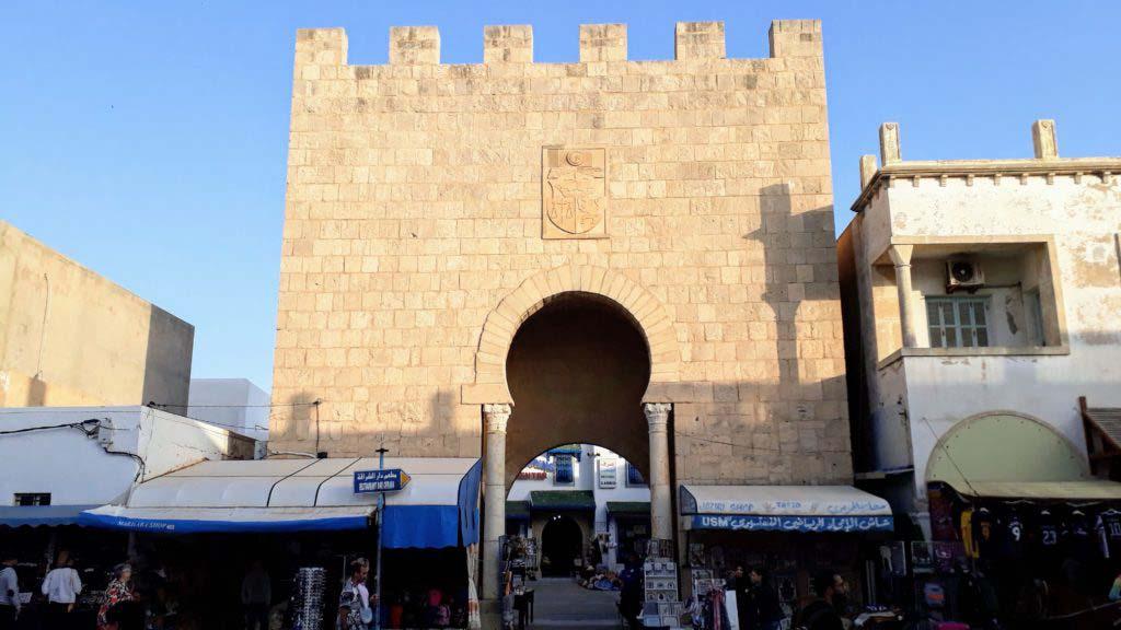 A city gate to the Medina of Monastir