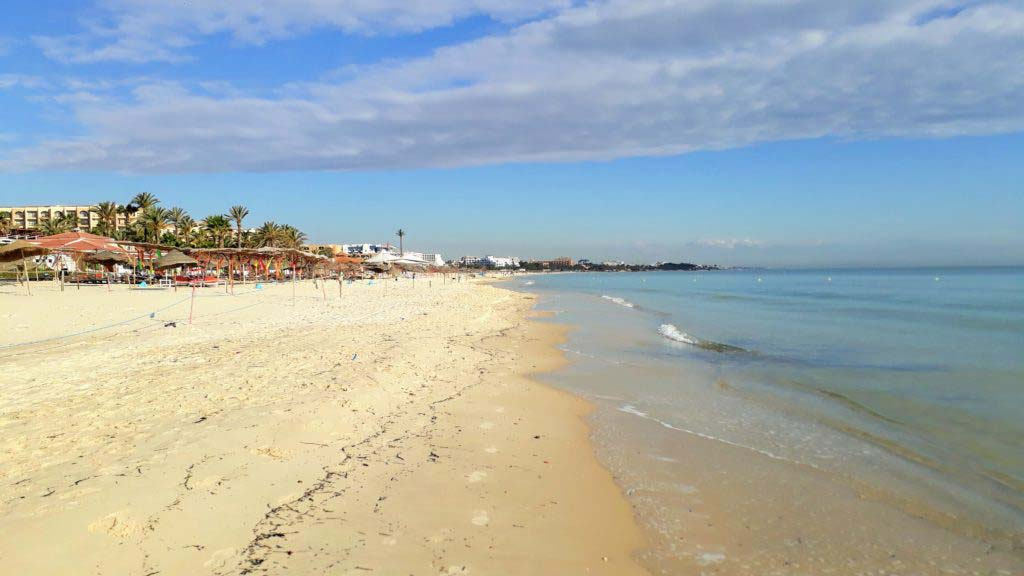 Beach in the north of Sousse