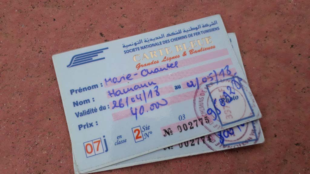 "Carte Bleue: The ""flat rate"" for train travel in Tunisia"