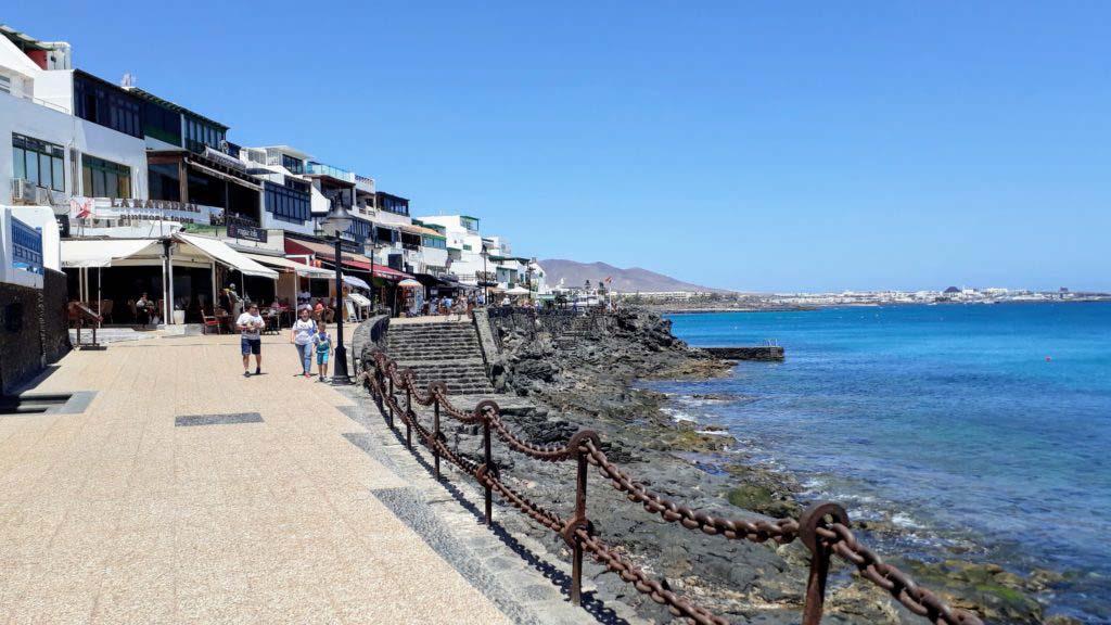 Seaside promenade in Playa Blanca