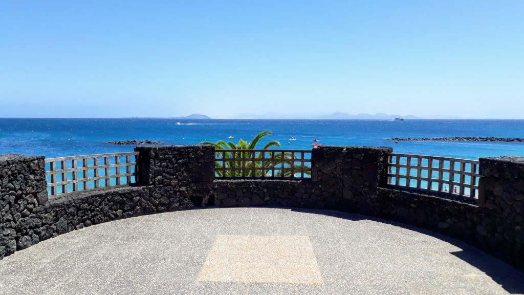 View from Playa Blanca to Fuerteventura