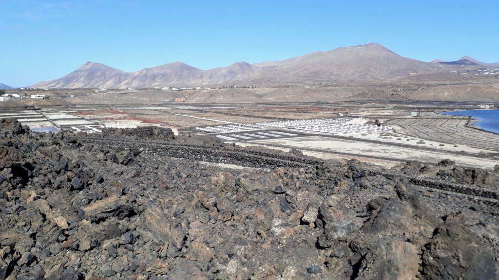 View of the Salinas de Janubio