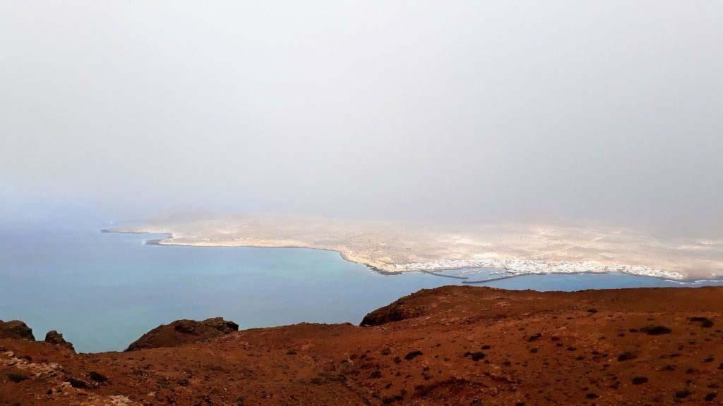 View of Lanzarote's northern neighboring island: La Graciosa