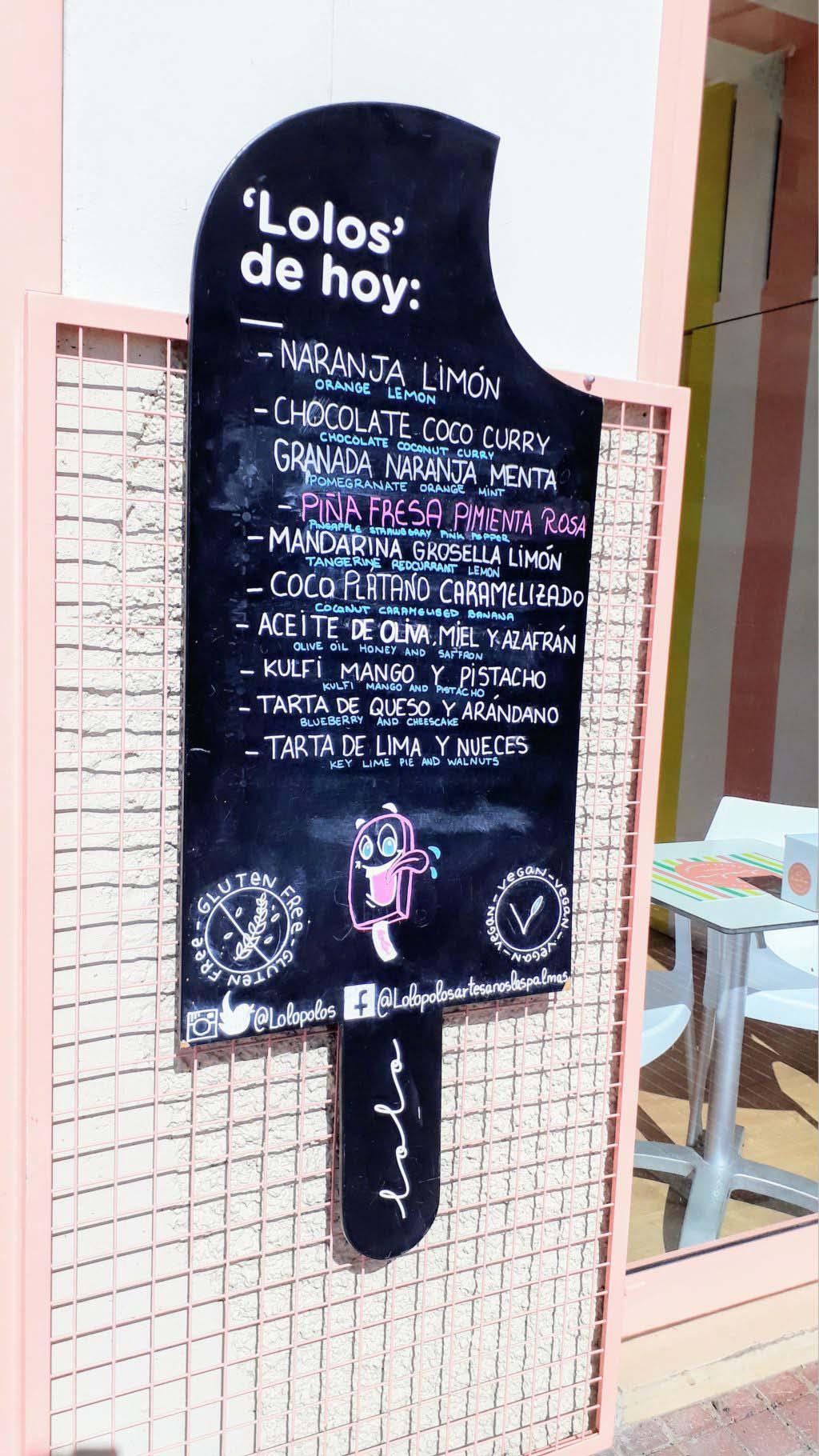 Vegan ice cream in Las Palmas de Gran Canaria