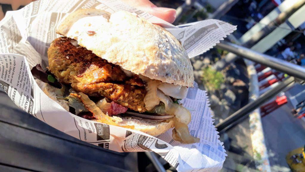Vegan burger from H! Burgers at Centro Comercial Las Terrazas