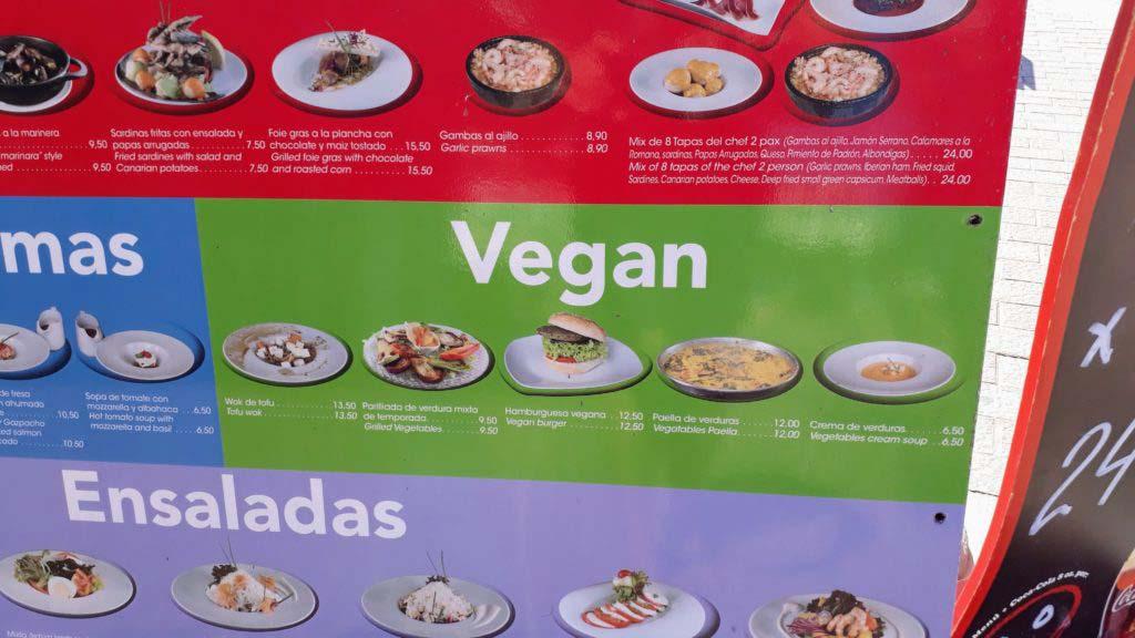 Vegan on Gran Canaria: Vegan options in Puerto de Mogán