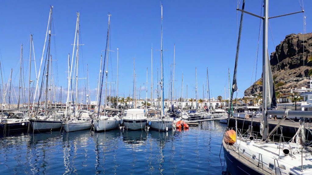 Port of Puerto de Mogán on Gran Canaria
