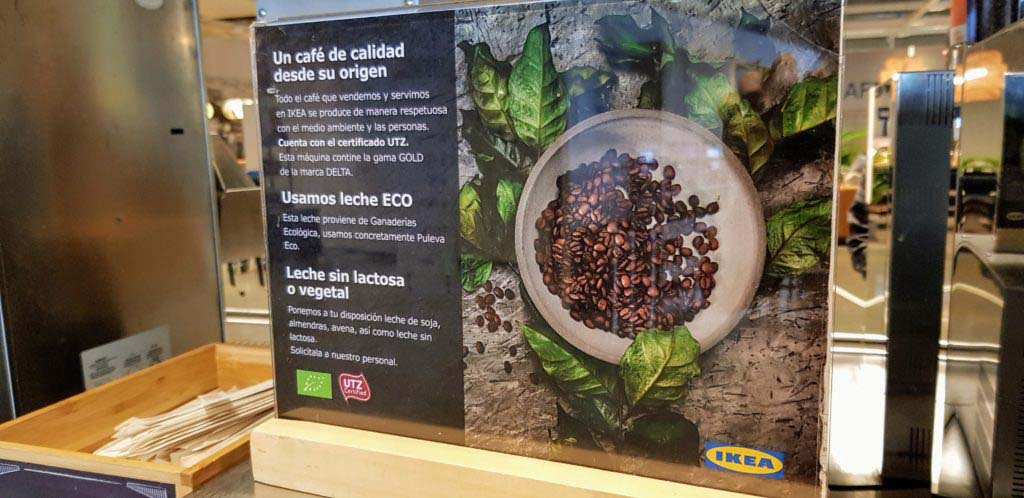 Plant milk at IKEA in Spain: There is soy, almond and oat milk available
