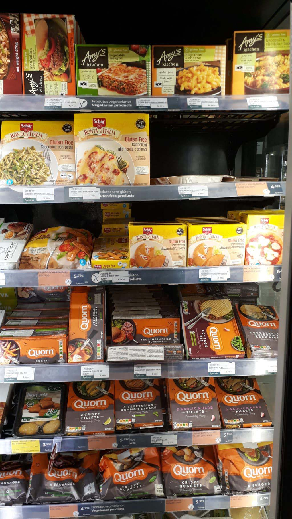 More products from Amy's and Quorn
