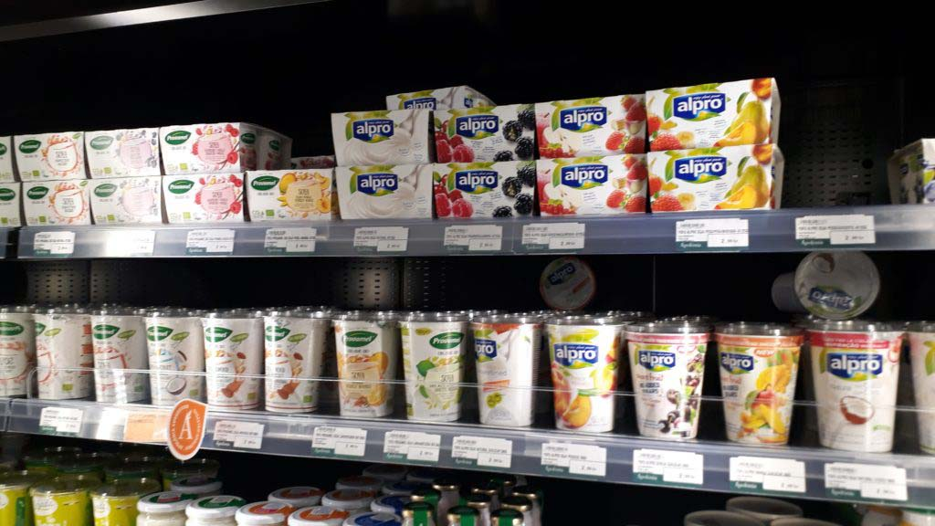 Yogurt from Alpro and Provamel