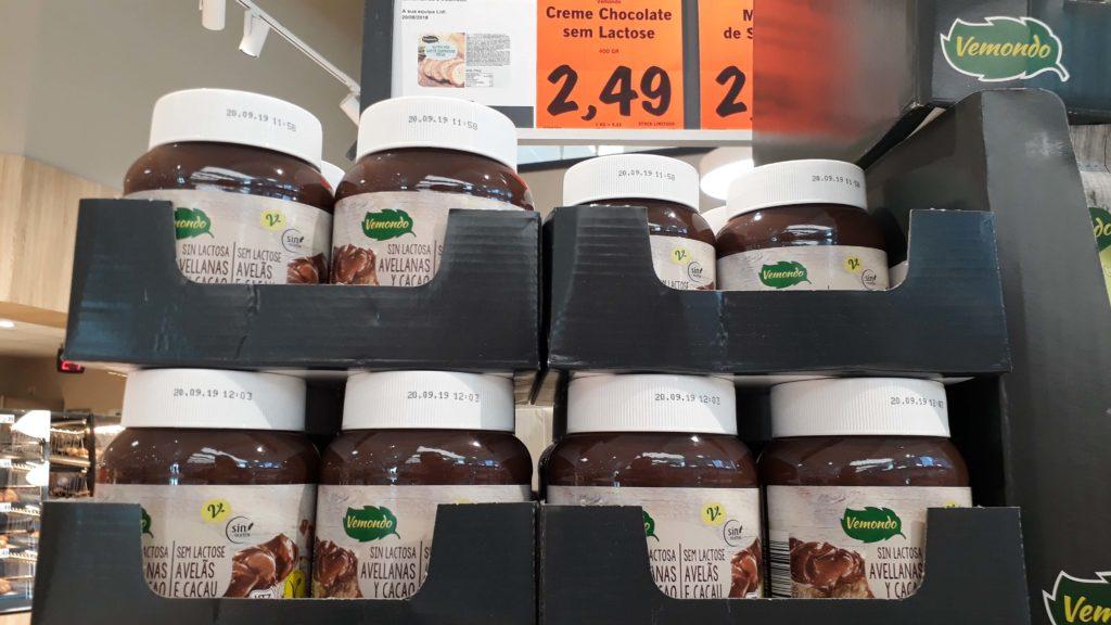 Vegan chocolate spread during a vegan promotion week