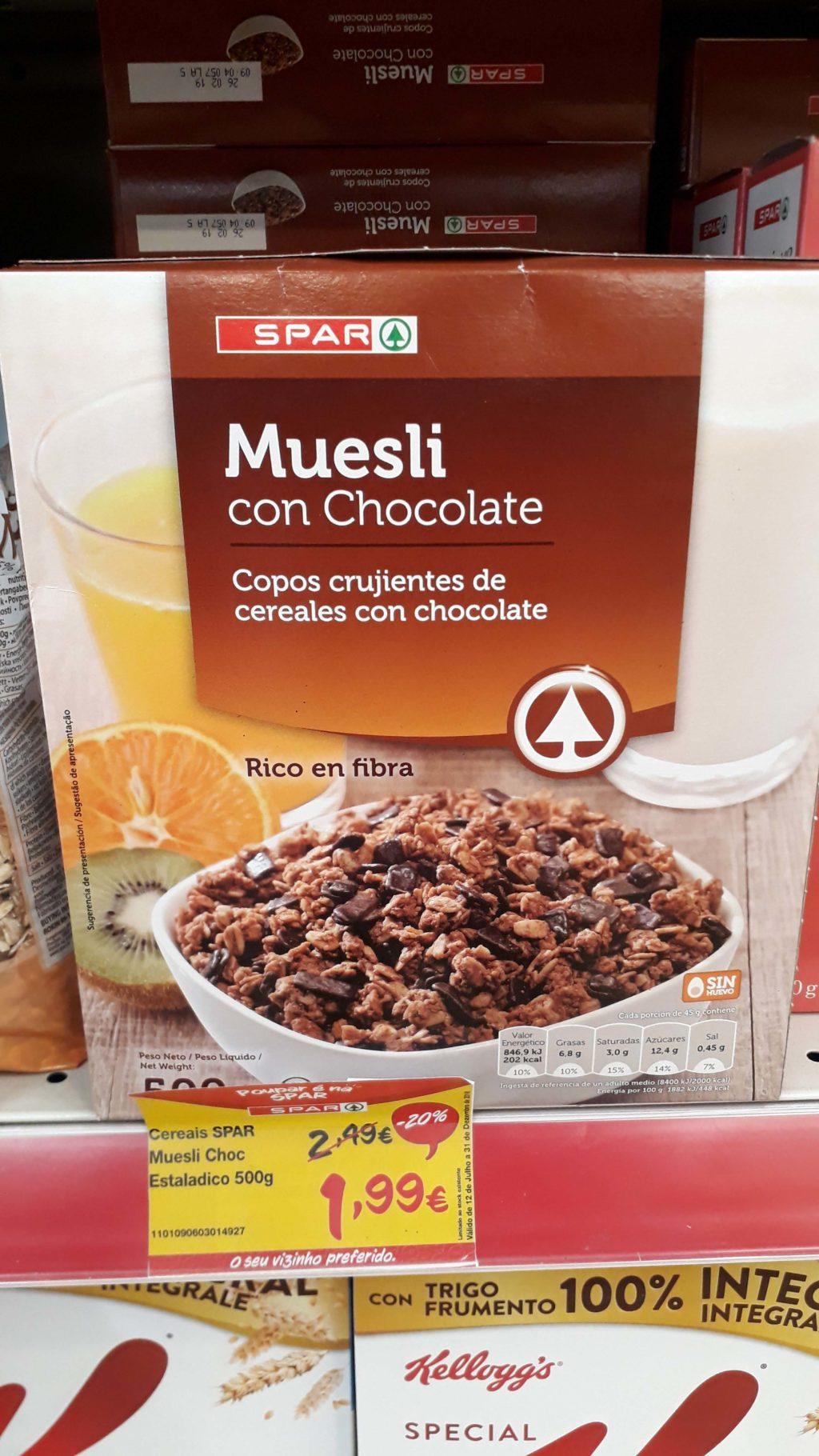 Vegan Chocolate Crunchy Muesli from Spar