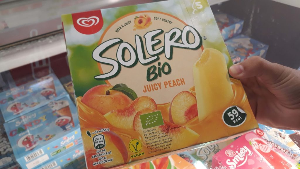 Vegan organic ice cream from Solero