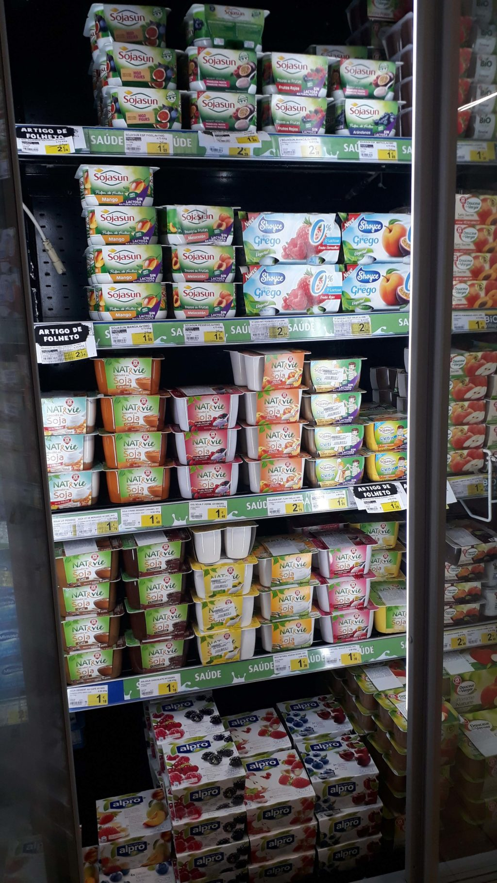 Various soy yoghurts and puddings