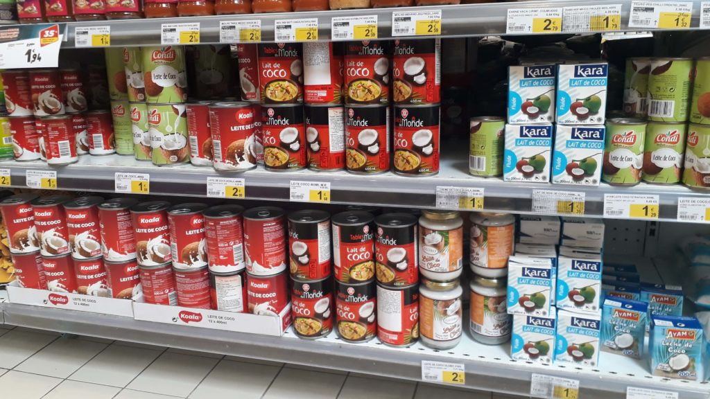 All kinds of coconut milk