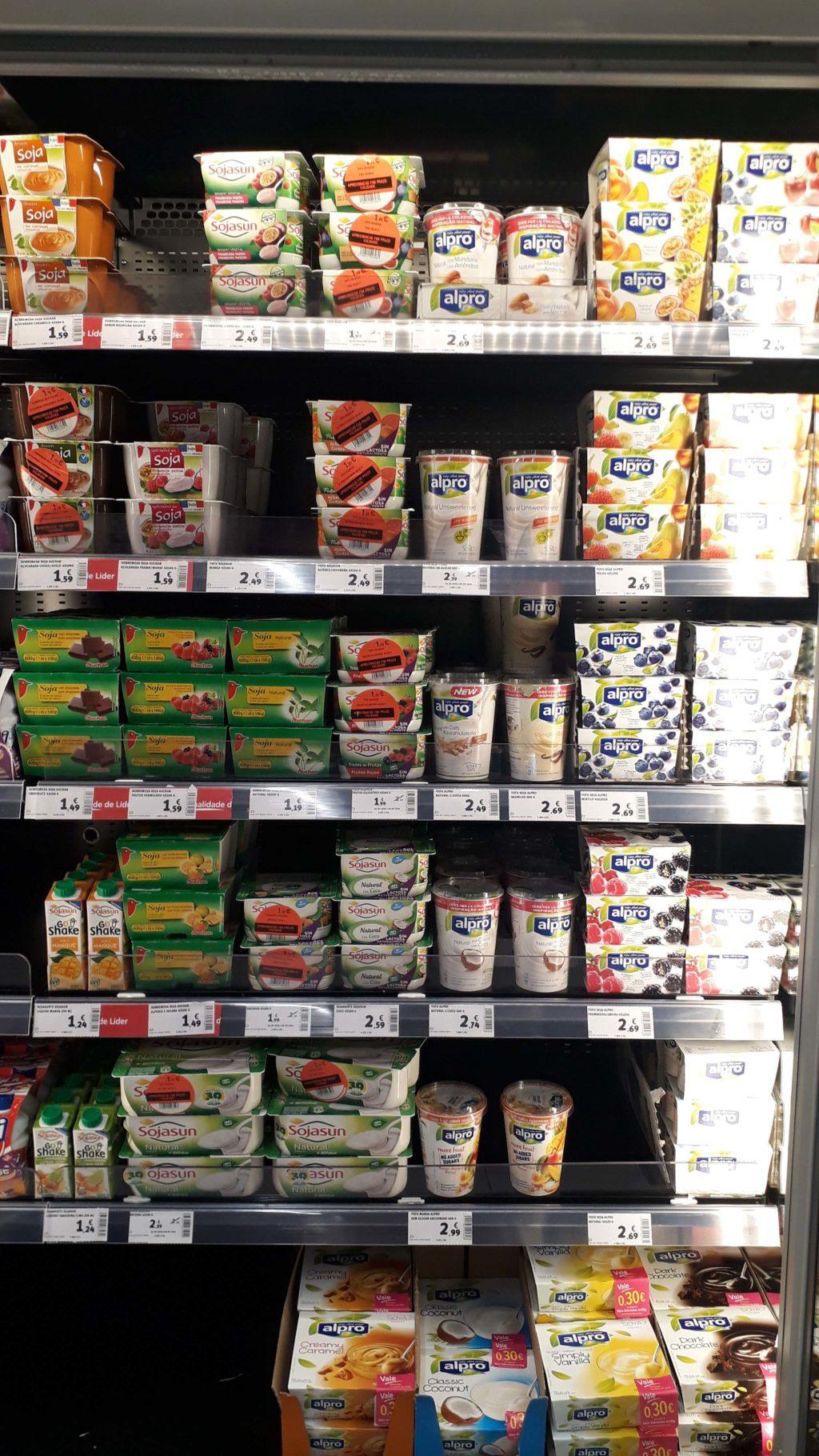 Selection of veggie yogurts