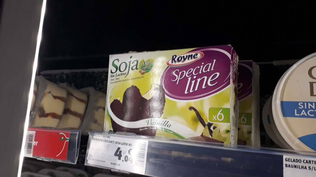 Soy ice cream in magnum style