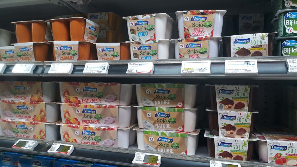 Vegan yoghurts and puddings from the store brand