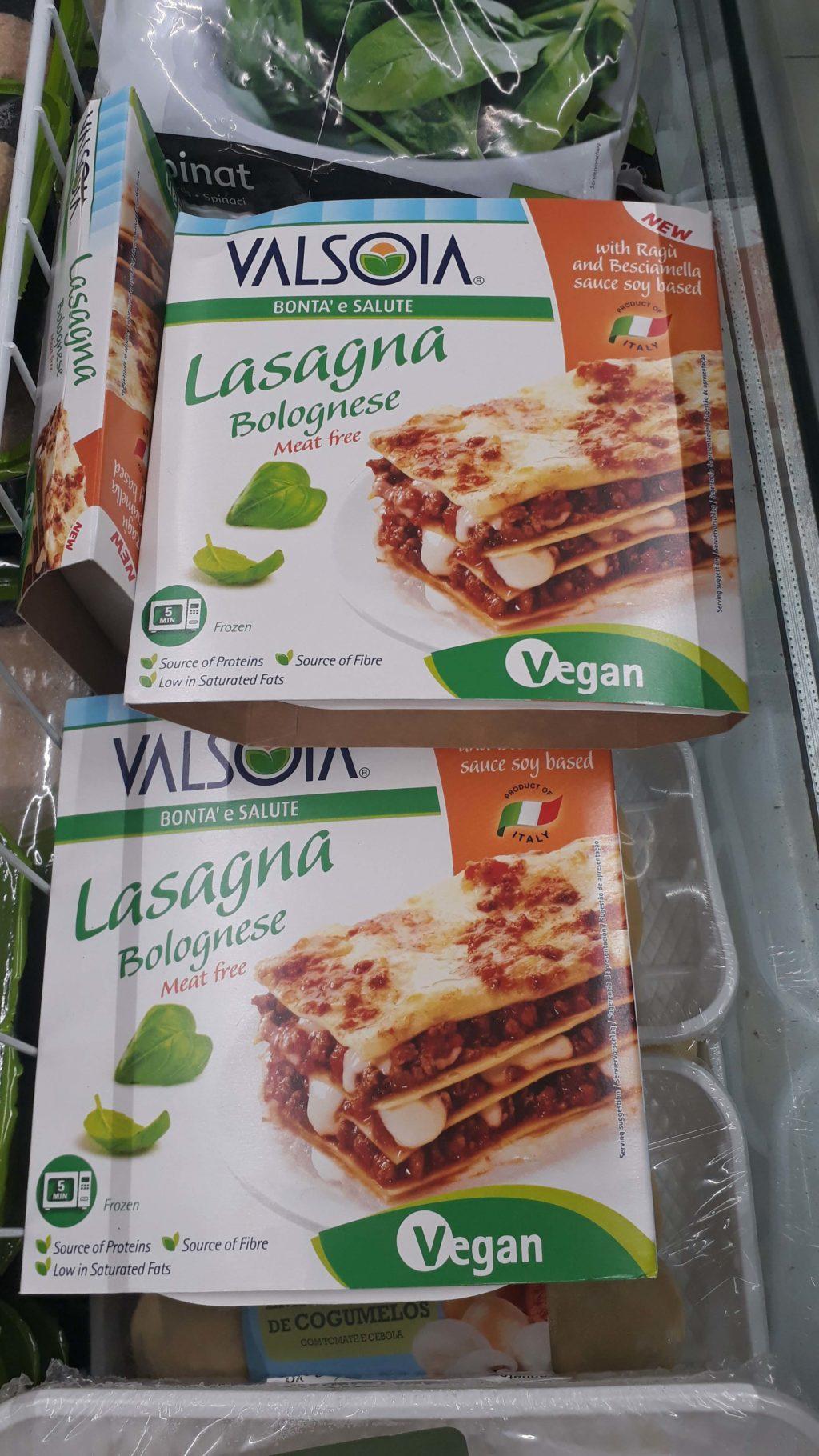 Frozen lasagna from Valsoia