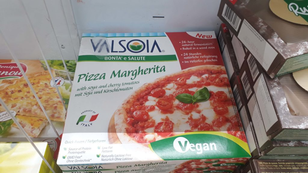 Frozen pizza from Valsoia
