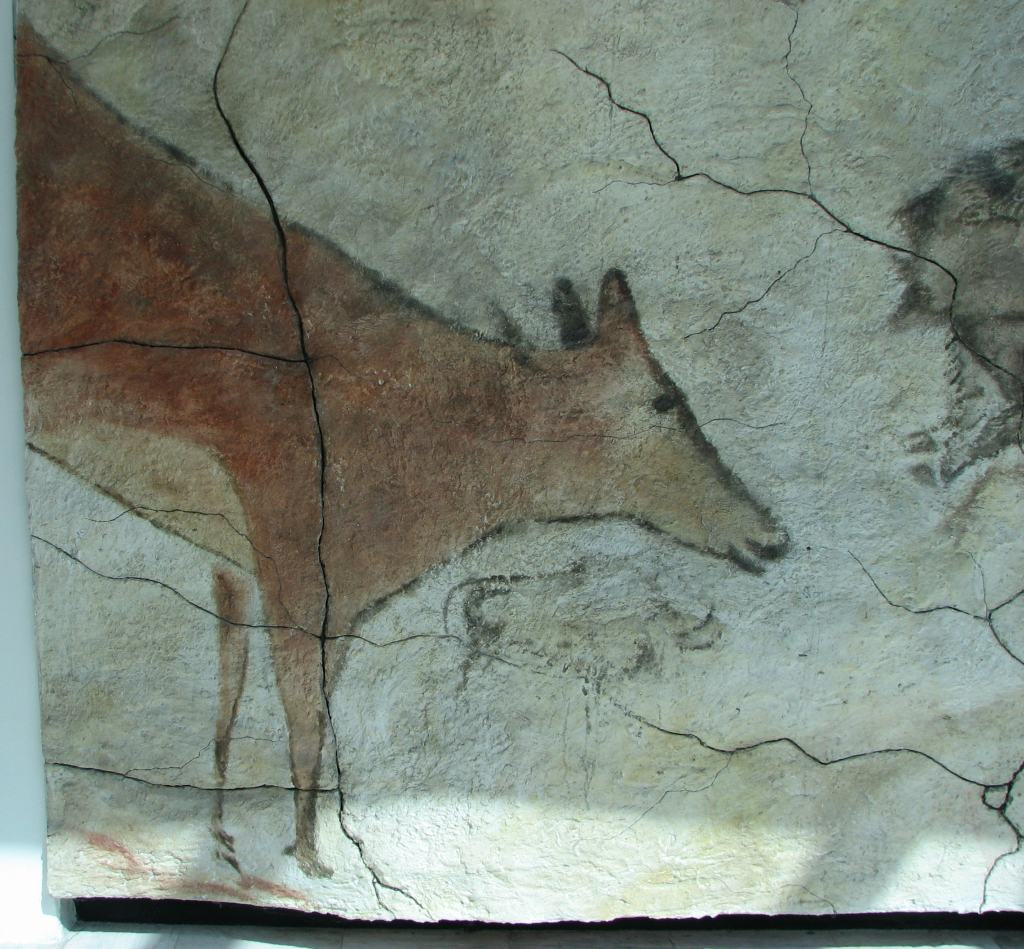 Reproduction of a painting from the cave of Altamira