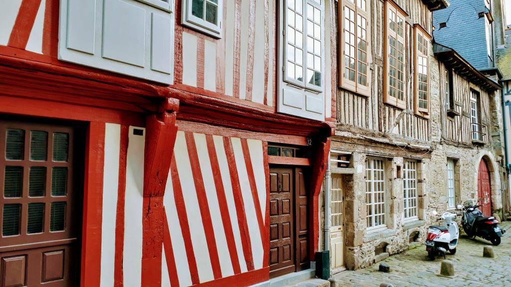 Casa de paredes entramadas en Rennes
