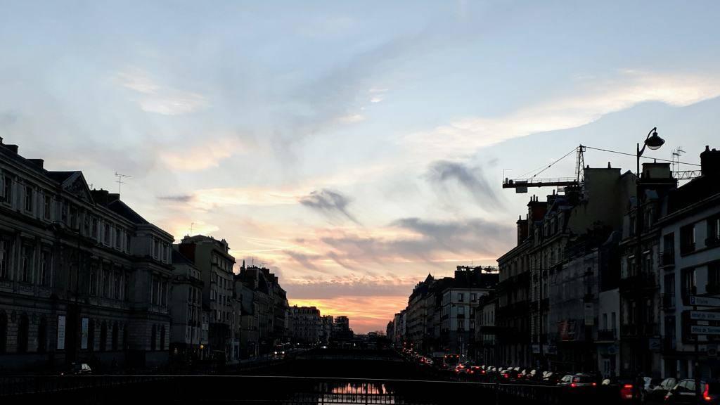 Puesta de sol sobre la Vilaine