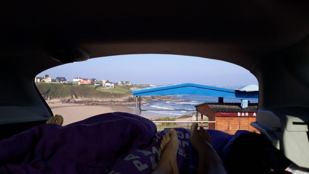 Vista desde nuestra propia cama de coche