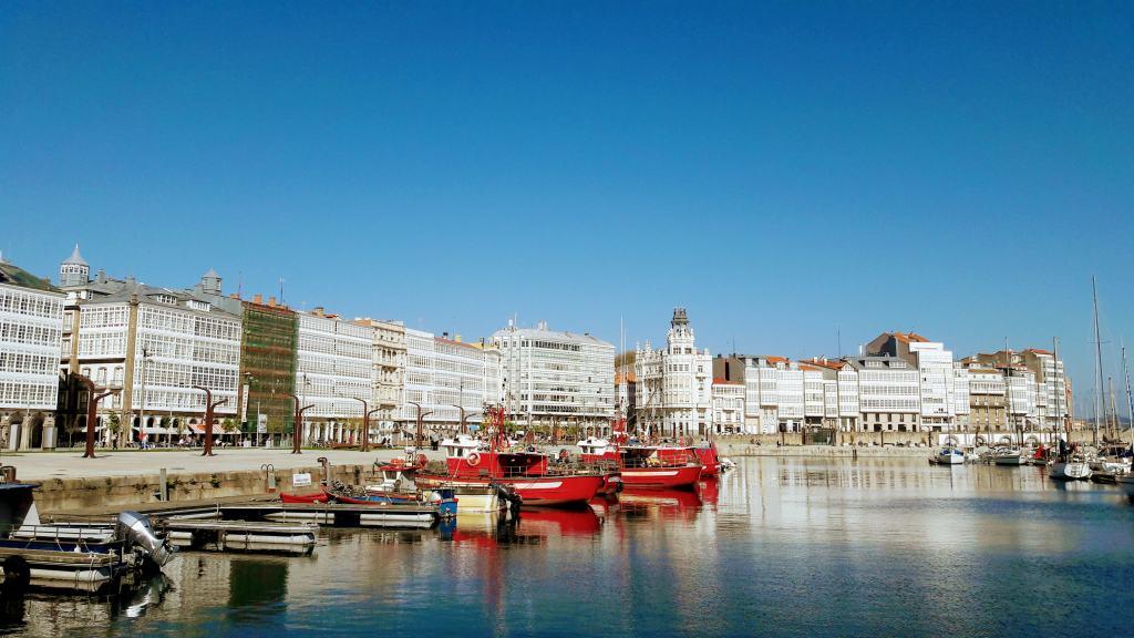 Galerías en la Marina de La Coruña