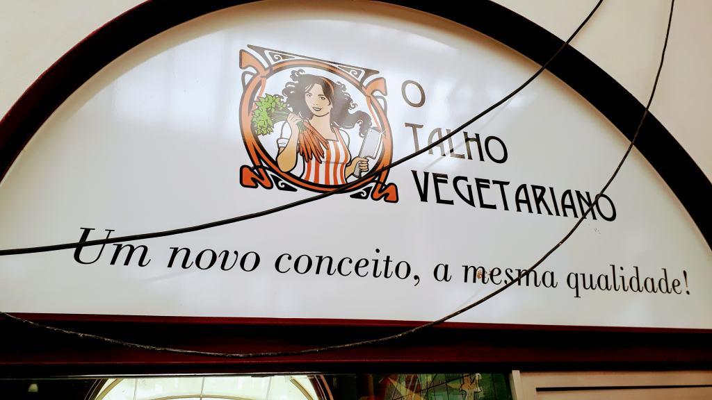 "Talho Vegetariano (portugués ""carnicero vegetariano"")"