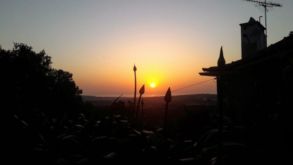 Puesta de sol en Casa do Fauno