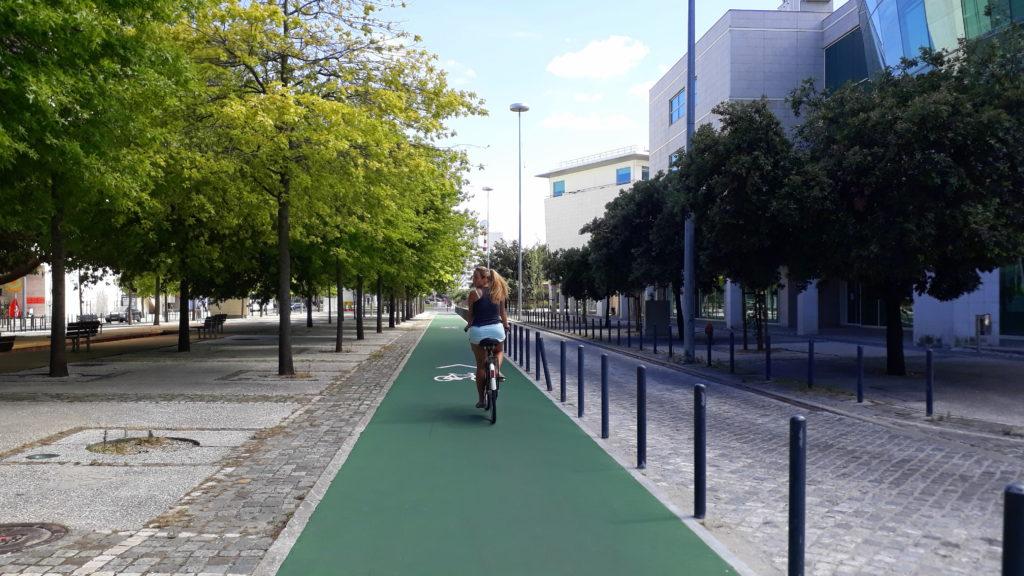 Carril bici en el Parque das Nações