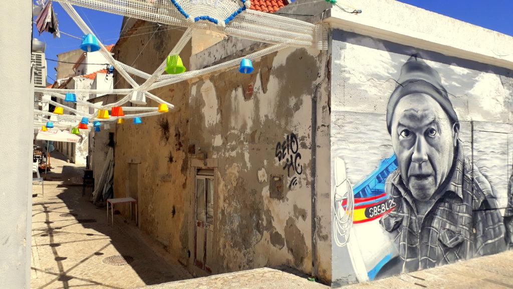 Arte callejero en Sesimbra