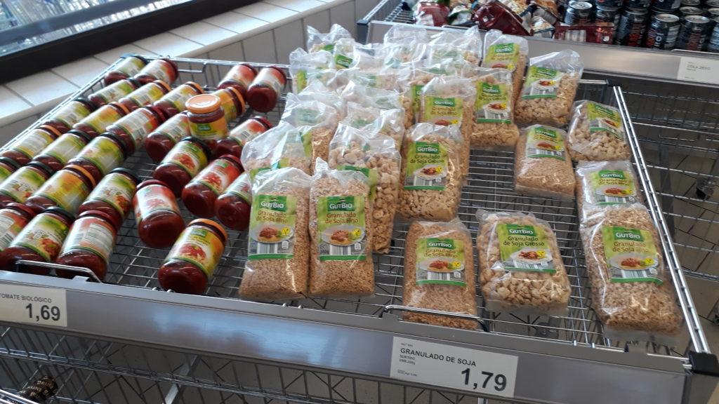 Vegano en Aldi: Granulado de soja (fino y grueso)