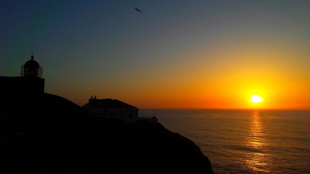 Puesta de sol en Cabo de San Vicente