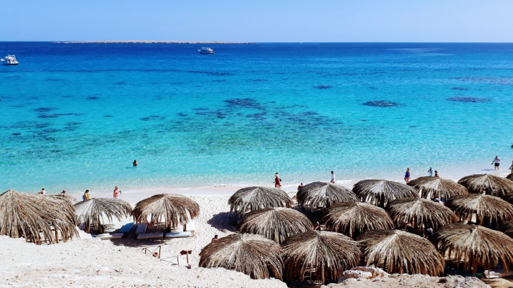 Playa Mahmya en el Parque Nacional de las Islas Giftun
