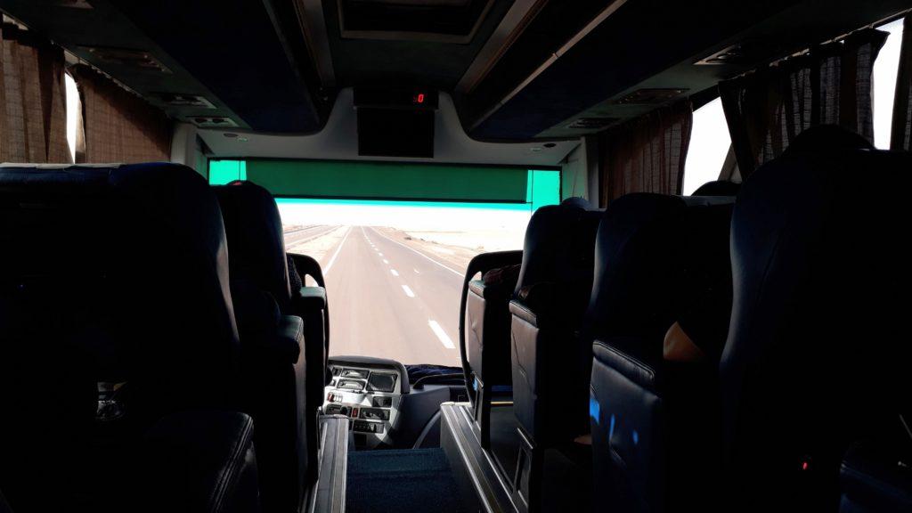 Ir en autobús en Egipto